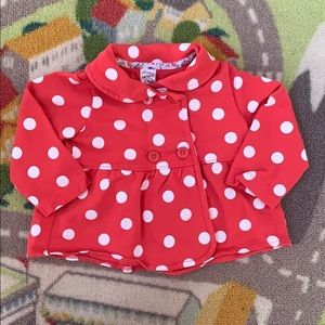 Carters 12m Baby Girl Peplum Peacoat Jacket